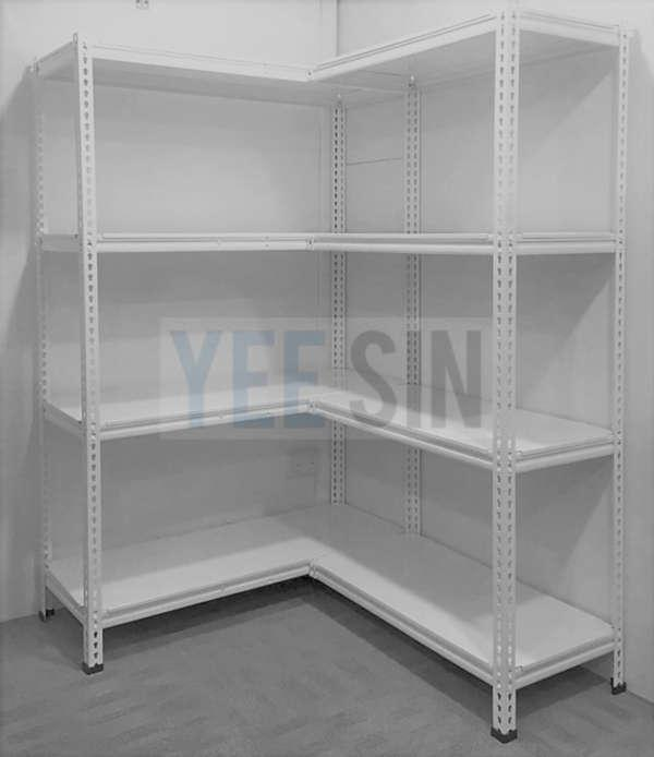 Boltless Rack with metal shelf L Shape